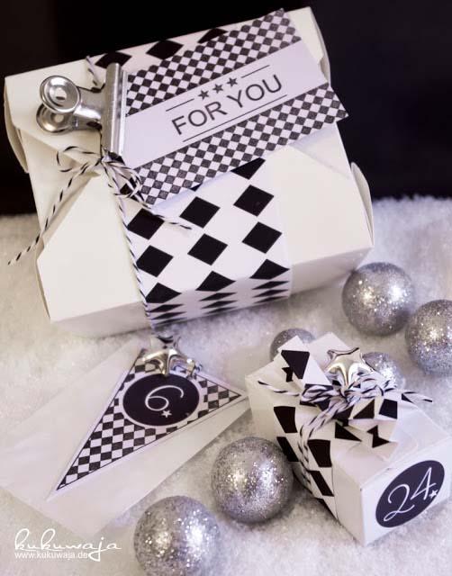 Adventsdeko-schwarz-weiß