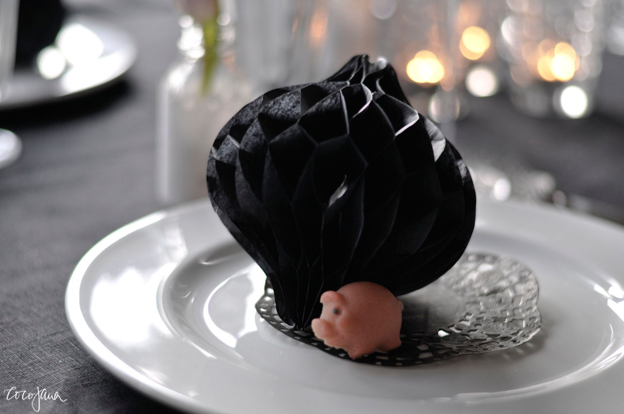 Tischdeko-schwarz-weiss