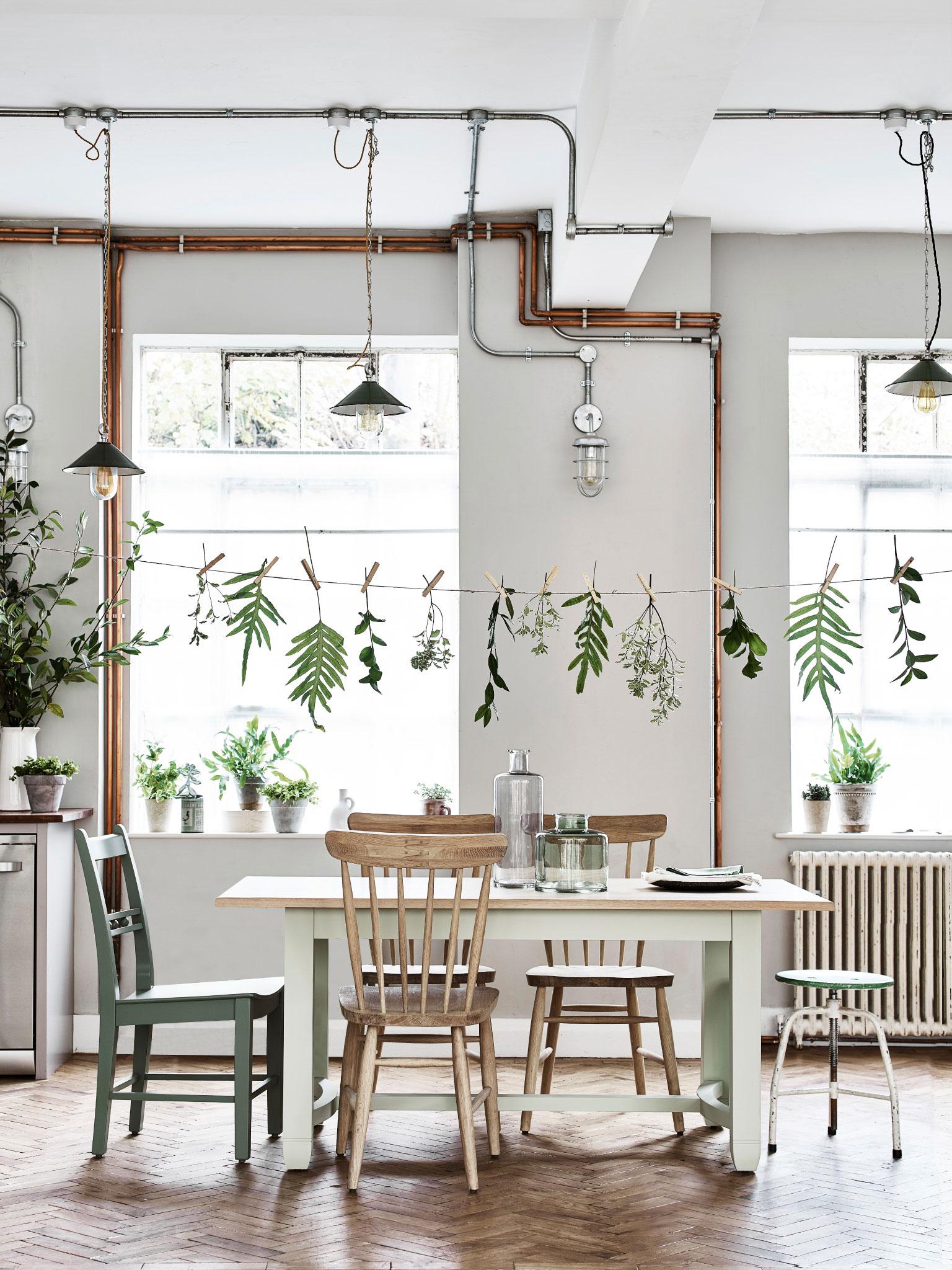 Küche in zartem Mintgrün und Grün Wohnkonfetti
