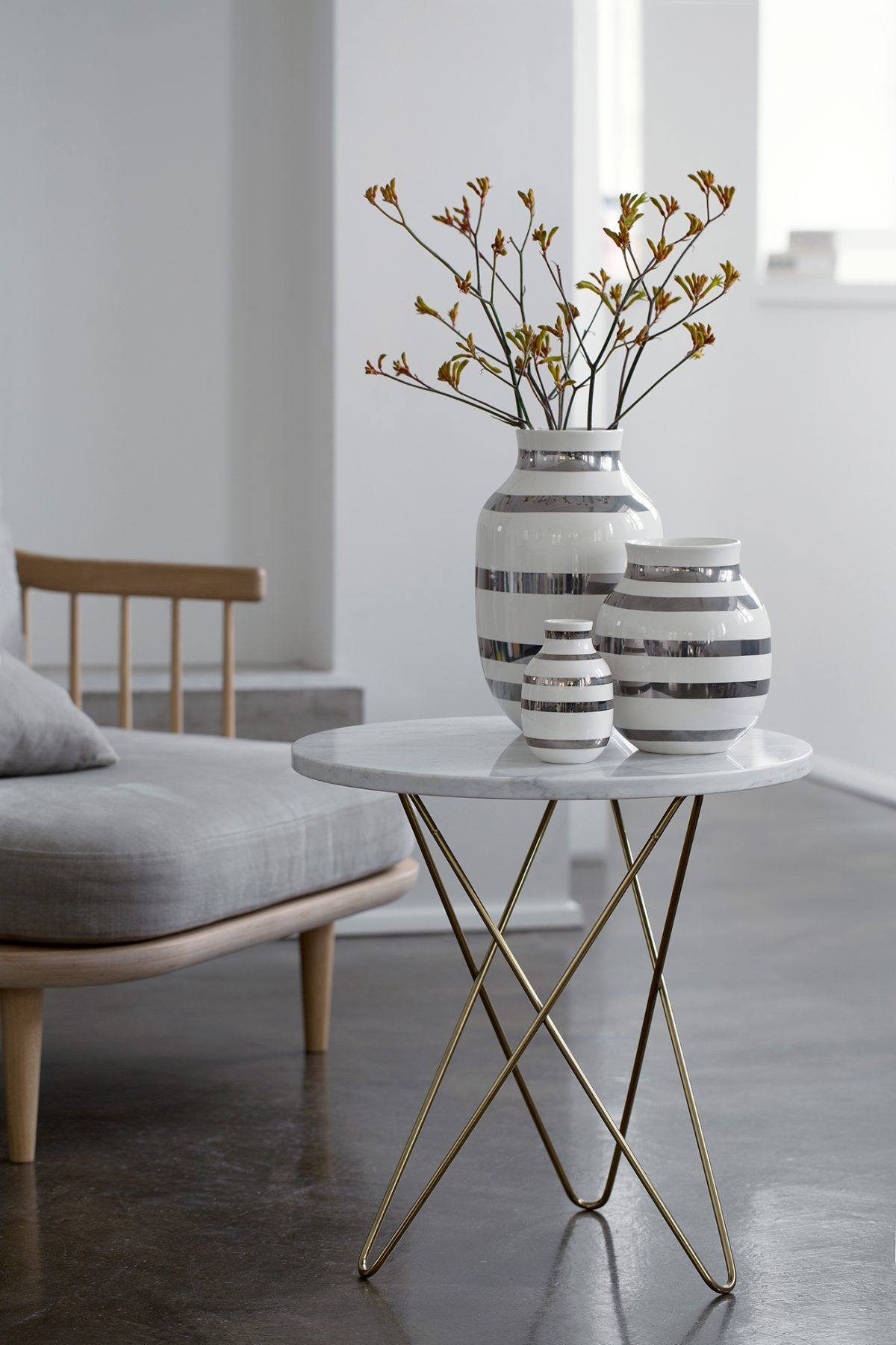 Vase Omaggio von Kähler Design jetzt auch in Silber