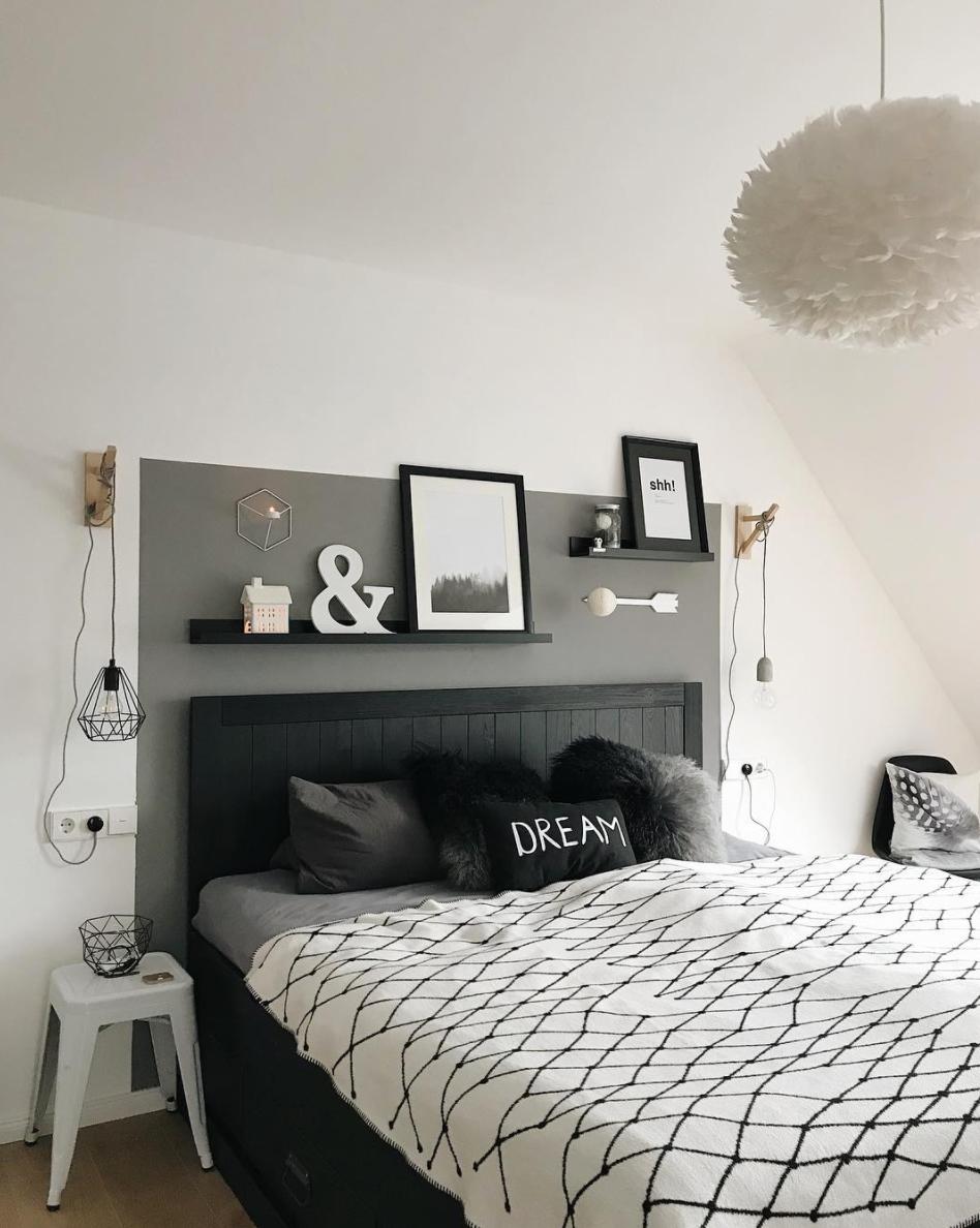 schlafzimmer-schwarz-weiss - Wohnkonfetti