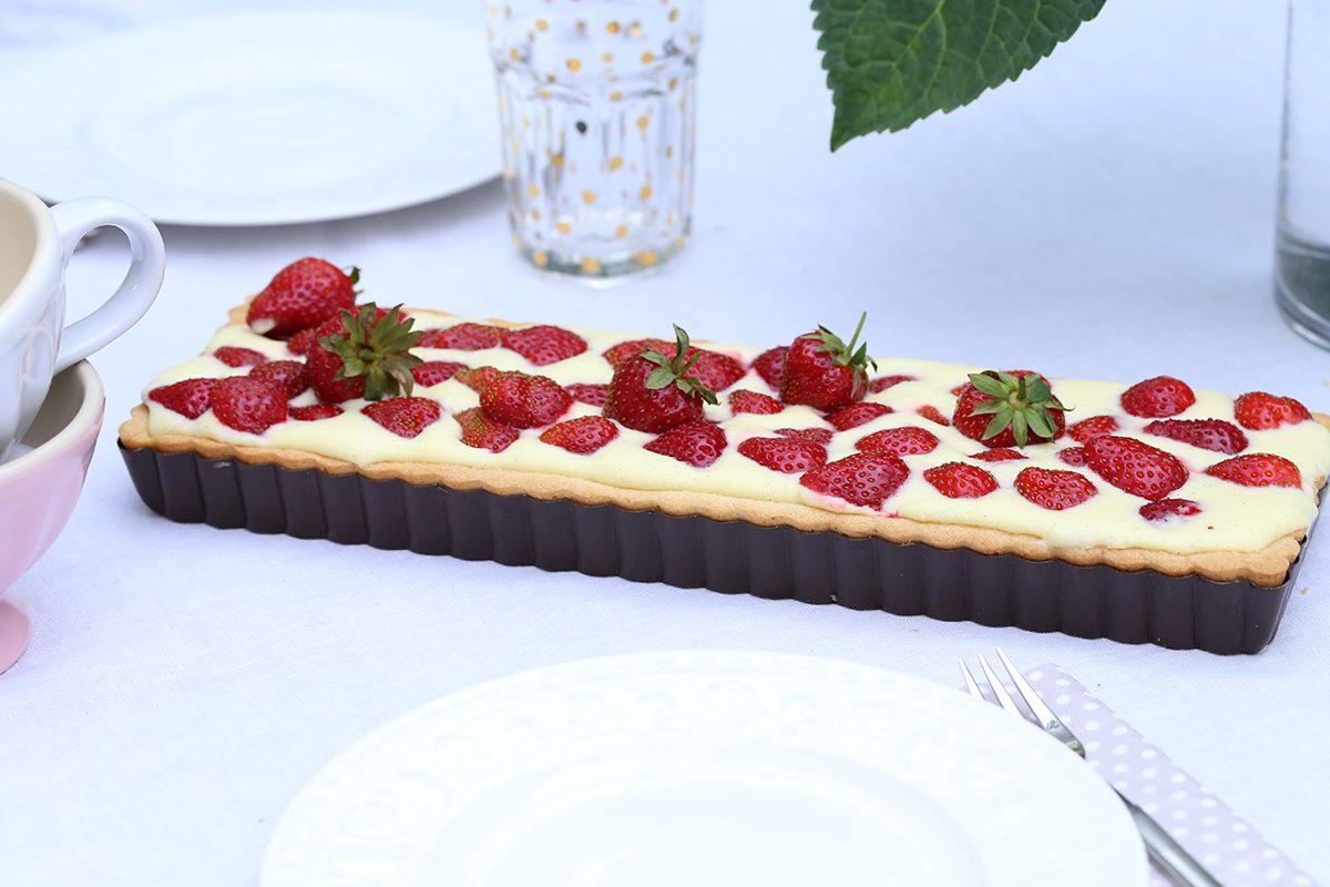 Leckere Erdbeertarte – heute mal aus Frankreich …ich sag nur Crème patissière